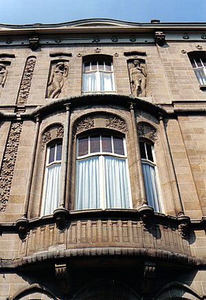 Bow window - Bow window on the Boulevard De Smet de Nayer in Bruxelles (Art nouveau style)