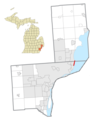 Grosse Pointe Shores, MI (Wayne and Macomb) location.png