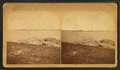 Group of people on rocks near a beach, from Robert N. Dennis collection of stereoscopic views.png