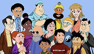 """Francis Cleetus - """"It's Geek 2 Me"""" cartoon characters."""
