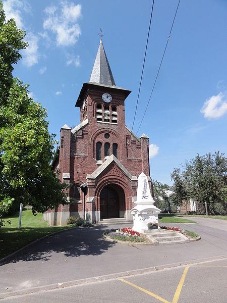 Guivry (Aisne) église Saint-Jean- Baptiste