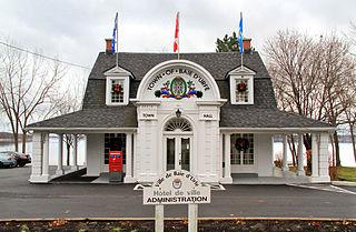 Baie-DUrfé Town in Quebec, Canada