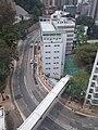 HKU 香港大學 PFL campus 薄扶林校園 Haking Building footbridge n MTR lift Tower view Pokfulam Road 潮商學校 Chiu Sheung School April 2019 SSG 01.jpg