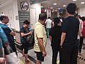 HK 香港南區 Southern District 薄扶林道 Pokfulam Road 瑪麗醫院 Queen Mary Hospital interior visitors lift lobby peak hours June 2019 SSG.jpg