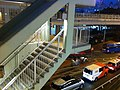 HK CWB Causeway Road night 信德街 Shelter Street concrete covered footbridge Nov-2013 stairs.JPG