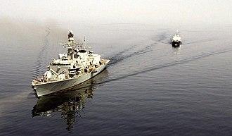 Hurricane Dean - HMS Portland followed Dean through the Caribbean, prepared to support damaged islands if necessary.