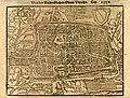 HUA-212016-Plattegrond van de stad Utrecht met directe omgeving met gestileerde weergave van het stratenplan met bebouwing in opstand en het grondgebruik met twe.jpg