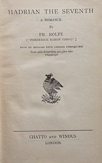 <i>Hadrian the Seventh</i> book by Frederick Rolfe
