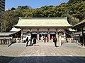 Haiden of Terukuni Shrine.JPG