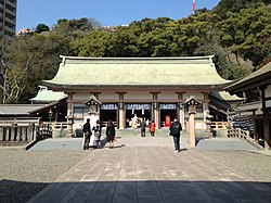 Haiden of Terukuni Shrine.JPG
