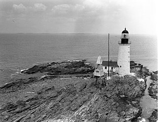 Halfway Rock Light lighthouse in Maine, United States