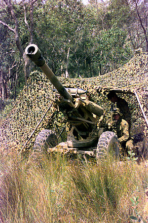 1st Regiment, Royal Australian Artillery - A 1st Field Regiment L119 Field Gun in 1999