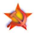 Hammer and sickle on a red star.svg