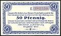 Handelskammer Hannover Gutschein über 50 Pfennig 1. Dezember 1919 Unterschrift Beindorf Wolfeel von Roon J. C. König & Ebhard. Rückseite Serie E 387330.jpg