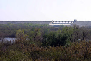 Hansen Dam - Hansen Dam and the riparian basin.