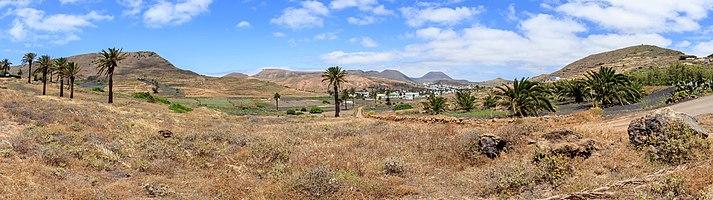 Valle de Malpaso with Haría, Lanzarote
