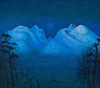 Harald Sohlberg - Winter Night in the Mountains - Google Art Project.jpg