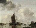 Harbour Scene with Reflecting Water (Jan van de Cappelle) - Nationalmuseum - 17565.tif