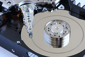 Head crash in a new model hard disk.