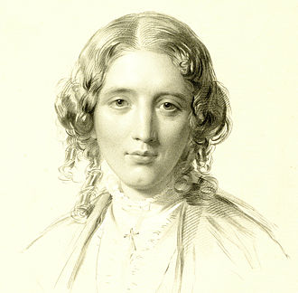 Harriet Beecher Stowe - Portrait of Harriet Beecher Stowe by Francis Holl, 1853