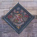 Hatchment (2) on the south wall of the Nave, Hexham Abbey - geograph.org.uk - 749279.jpg