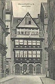 Haus der Rotschilds in der frankfurter Judengasse