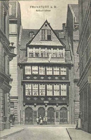 Mayer Amschel Rothschild - Rothschild family home in the Frankfurter Judengasse.