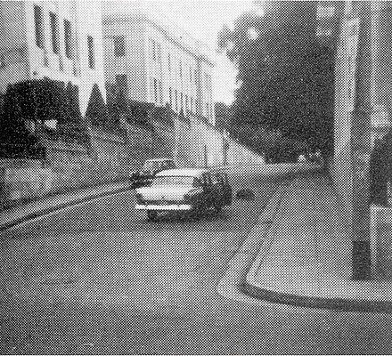Echeverria's car at L and Jovellar where he was killed. He was on the way back to the Architecture School located on the back side of the University. Havana Presidential Palace Attack Echevarias car (1957).jpg