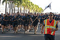 Hawaii-based U.S. Navy chief petty officers (CPO) participate in the CPO Deckplate Leadership Run April 1, 2012, at Joint Base Pearl Harbor-Hickam, Hawaii 120401-N-WP746-434.jpg