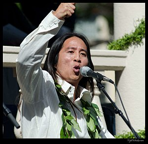 Kealoha (poet) - Kealoha speaking at the Gubernatorial inauguration of Neil Abercrombie