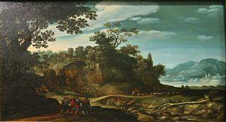 Paysage aux pèlerins d'Emmaüs