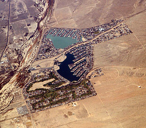 Aerial view of Helendale, California