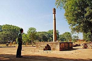Vidisha - View of Heliodorus pillar.