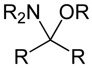Aminal - Hemiaminal ether derived from a ketone