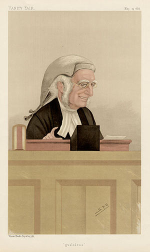 "Henry Cotton (judge) - ""guileless"". Caricature by Spy published in Vanity Fair in 1888."