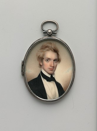 Henry Peters Gray - Watercolor miniature portrait of Gray by Henry Colton Shumway (1807–1884), at the Metropolitan Museum of Art, 1842