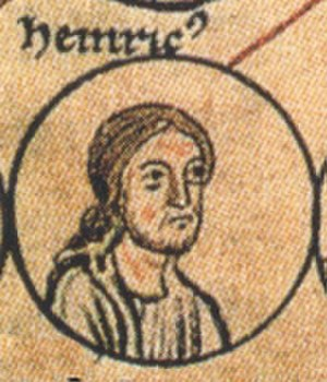 Henry of Speyer - Depiction in the Chronica sancti Pantaleonis, about 1237