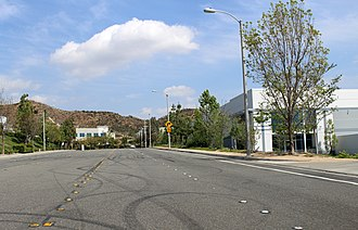 Paul Walker - Site of Walker's death on Hercules Street in Santa Clarita (photo taken 2015)
