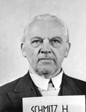 Hermann Schmitz - Schmitz after his arrest by the U.S. Army