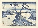 Het Suwa meer in de provincie Shinano Shinshu Suwako (titel op object) 36 gezichten op de berg Fuji (serietitel) Fugaku sanjurokkei (serietitel op object), RP-P-1956-730.jpg