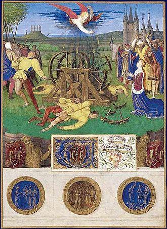 Square du Temple - Image: Heures d'Étienne Chevalier Martyre de sainte Catherine