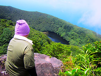 Mount Hibok-Hibok - The crater as viewed from the Yumbing Trail of Hibok-Hibok Volcano