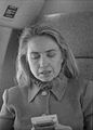Hillary Rodham Clinton on plane using Game Boy (13).jpg