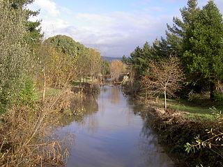 Hinebaugh Creek stream in California
