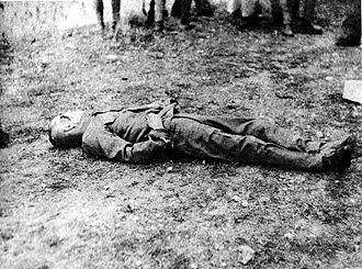 Hisakazu Tanaka - General Tanaka's body after the execution.