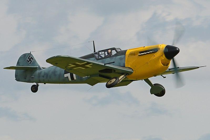 Hispano HA.1112M1L Buchon %27Black 2%27 (G-AWHK) (36053481566).jpg