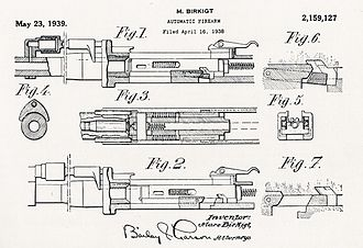 Hispano-Suiza HS.404 - US Patent drawing of the Hispano Suiza cannon.