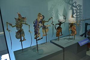 Museo Nacional de las Culturas - Part of a display on Wayang