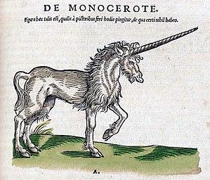 Historia animalium (Gessner) - Unicorn