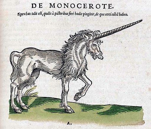 Historiae animalium 1551 De Monocerote